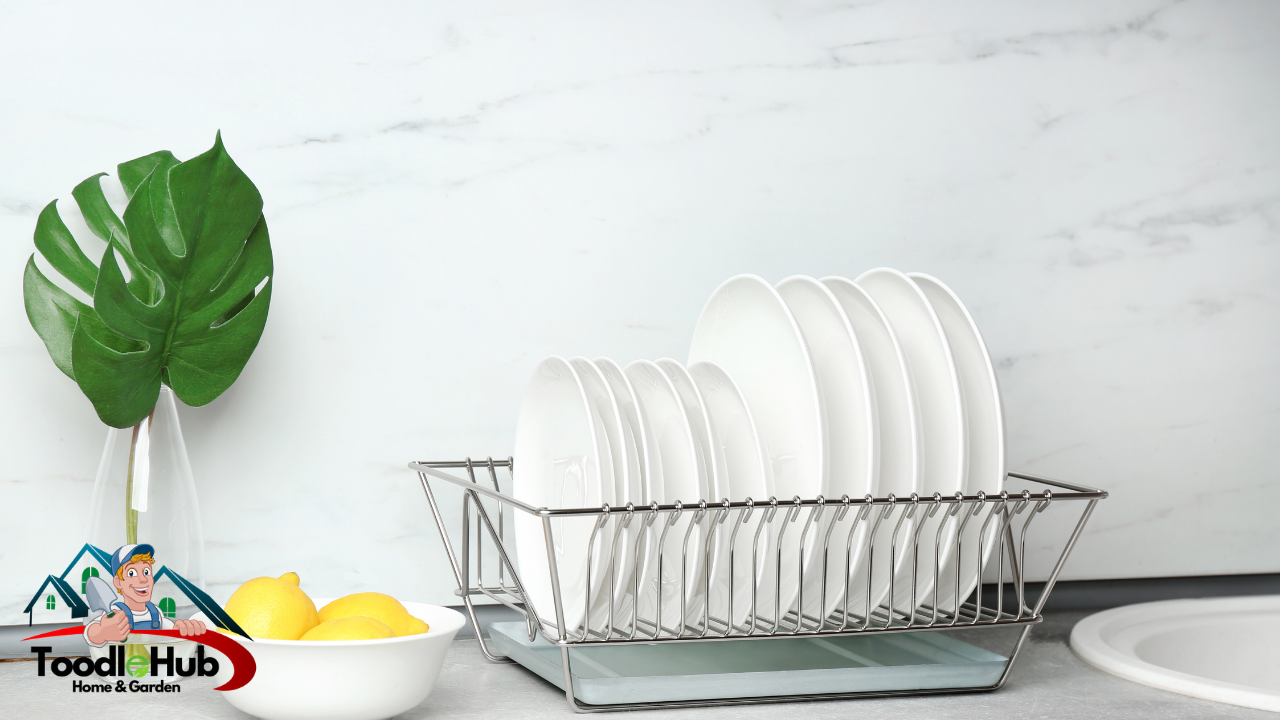 over the sink dish dryer